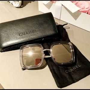 Chanel mirror sunglasses.